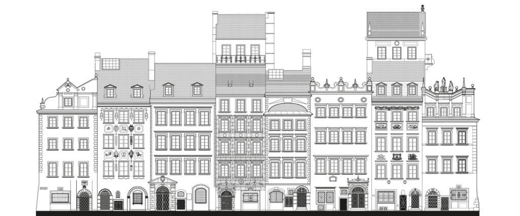 Fasada kamienic Muzeum Warszawy